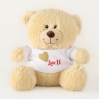 Ours En Peluche Coeur d'or je t'aime