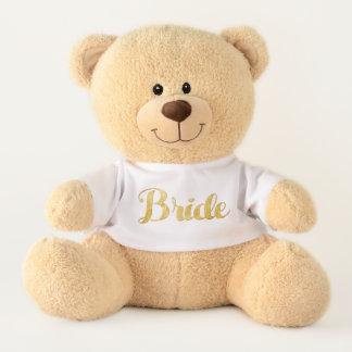 Ours En Peluche Jeune mariée d'or
