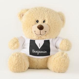 Ours En Peluche Nom fait sur commande élégant noir et blanc beau