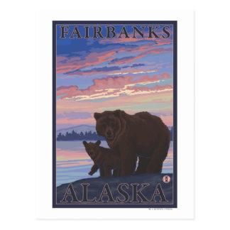Ours et CUB - Fairbanks, Alaska Carte Postale