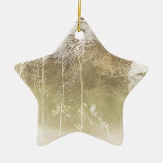 Ours exposé ornement étoile en céramique
