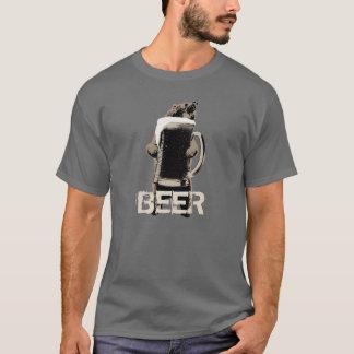Ours gris et bière drôles t-shirt