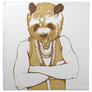 ours humain avec la langue serviettes en tissus