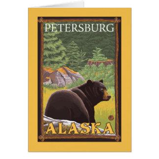 Ours noir dans la forêt - Pétersbourg, Alaska Carte