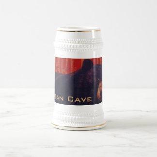 Ours noir de caverne d'homme chope à bière