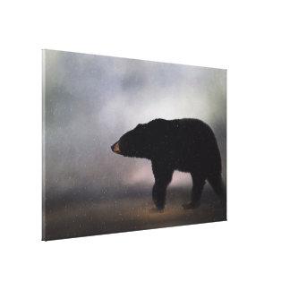 Ours noir de la Pennsylvanie dans la toile