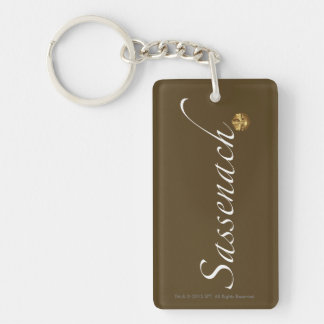 "Outlander | ""Sassenach "" Porte-clé Rectangulaire En Acrylique Double Face"