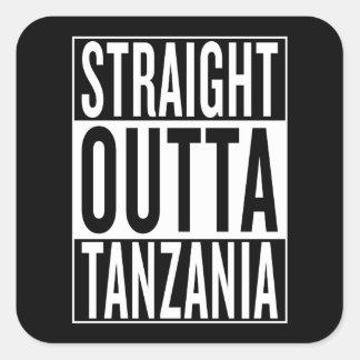 outta droit Tanzanie Sticker Carré
