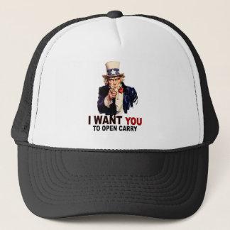 Ouvert portez casquette
