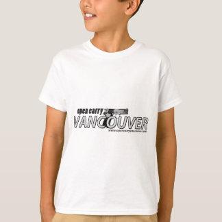 Ouvert portez les chemises de Vancouver T-shirt