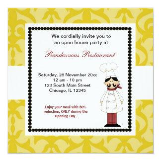 Ouverture officielle carton d'invitation  13,33 cm