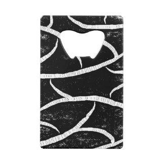 Ouvreur blanc noir rustique de carte