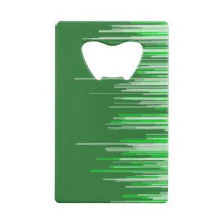 Ouvreur blanc vert de carte de rayure