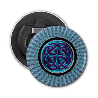 Ouvreur de bouteille celtique bleu de mandala de décapsuleur