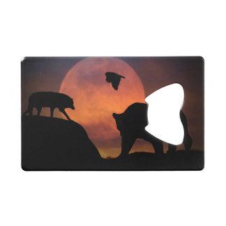 Ouvreur de bouteille de carte de crédit d'ours, de