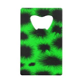 Ouvreur noir vert au néon de carte de transitoire
