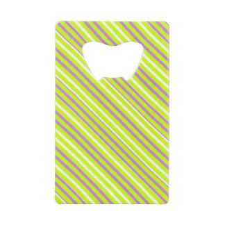Ouvreur pourpre jaune de carte de rayure