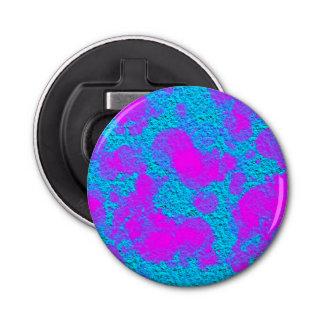 Ouvreur rond bleu rose au néon décapsuleur