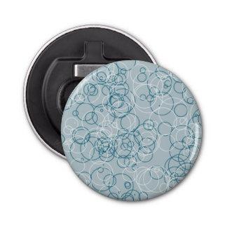 Ouvreur rond de cercle blanc bleu décapsuleur