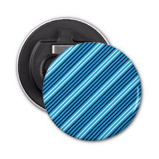 Ouvreur rond de Geo de rayure bleue Décapsuleur