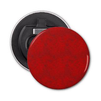 Ouvreur rond de texture rouge-foncé décapsuleur