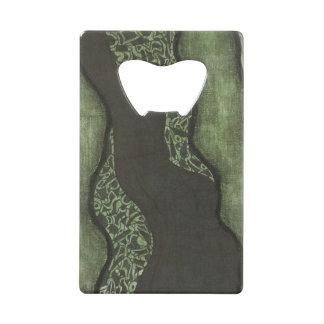 Ouvreur vert-foncé de carte d'encre