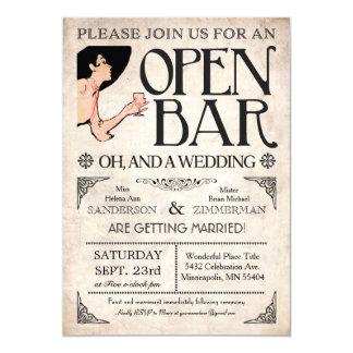 Ouvrez les invitations de barre et d'un mariage