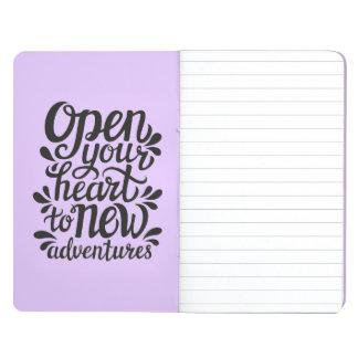 Ouvrez votre coeur à de nouvelles aventures carnet de poche