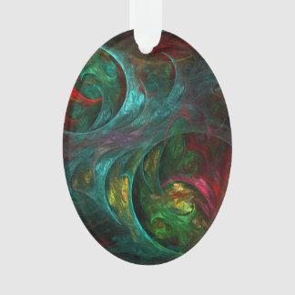 Ovale acrylique d'art abstrait de nova de genèse