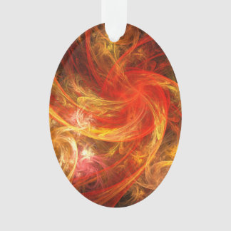 Ovale acrylique d'art abstrait de nova de tempête