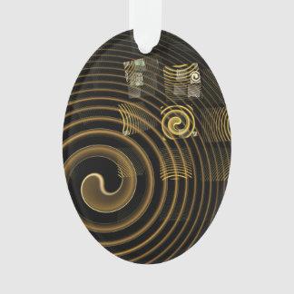 Ovale acrylique d'art abstrait d'hypnose