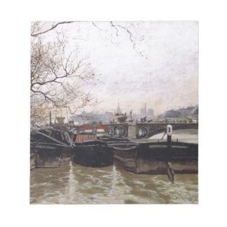 Overstroming door de Zegen door Fritte Thaulow Notitieblok