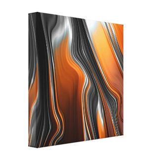 Overweldigende chroom-oranje fractal samenvatting canvas afdrukken