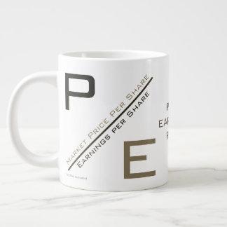 """""""P/E Verhouding """" Grote Koffiekop"""