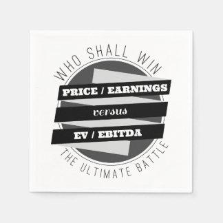 P/E Verhouding tegenover Verhouding EV/EBITDA Wegwerp Servet