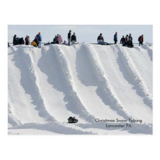 PA de Lancaster de tuyauterie de neige de Noël Carte Postale