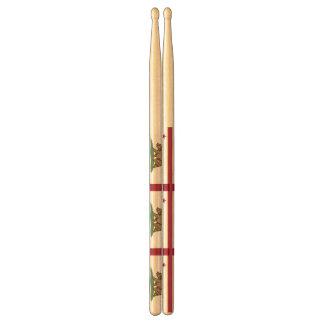 Paar trommelstokken met Vlag van Californië Drumstokkies 0