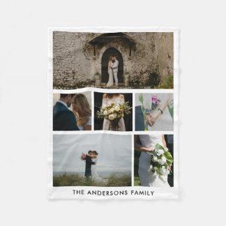 Paar Zes van het huwelijk Foto's   Gift van het Fleece Deken