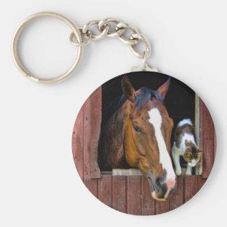 Paard en Kat Sleutelhanger
