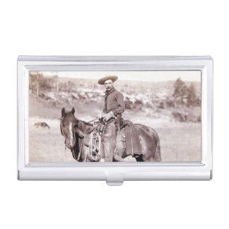 Paard van het Westen van de vintage Cowboy het Visitekaarthouder