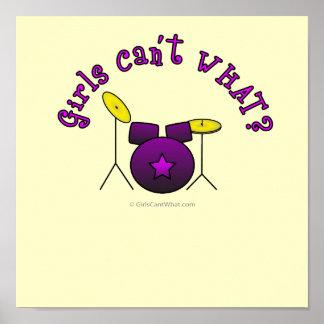 Paars drumstel - poster