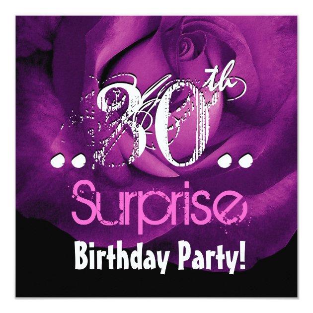 Paars Nam 30ste Verrassing Verjaardag Ver 001 Toe Kaart Zazzle Be
