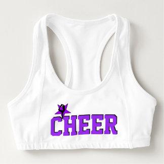 Paarse Cheerleader sportenbustehouder Sport BH