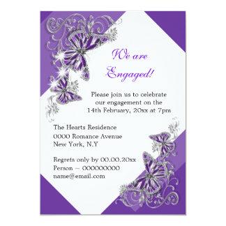 Paarse het huwelijksverjaardag van het 12,7x17,8 uitnodiging kaart