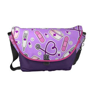 Paarse het Patroon van de Liefde van de Messenger Bags
