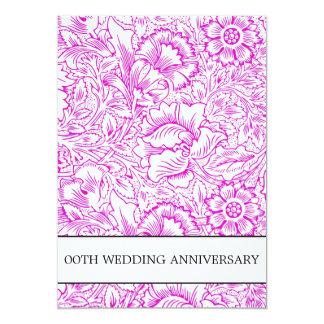 paarse huwelijksverjaardag bloemen 12,7x17,8 uitnodiging kaart