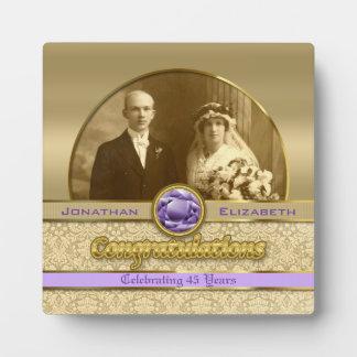 Paarse Violetkleurig van het Jubileum van het huwe Fotoplaat