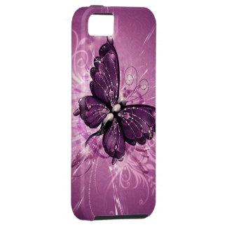 paarse vlinder vectorart. tough iPhone 5 hoesje
