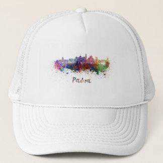 Padoue skyline in watercolor casquette