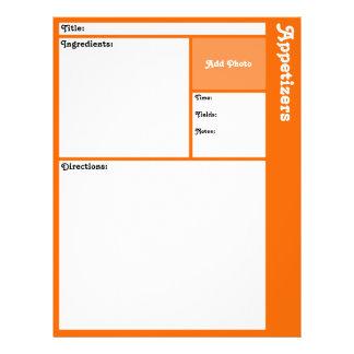 Page de recette (orange) prospectus 21,6 cm x 24,94 cm